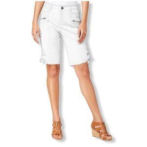 Style & Co Zipper Bermuda Cargo Shorts